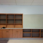 My book shelves and future word wall